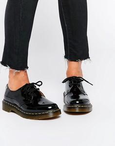 f7bd135a23eb Черные лакированные туфли на плоской подошве Dr Martens 1461 - Черный