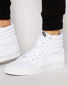 Белые высокие кроссовки Vans Sk8 VD5IW00 - Белый