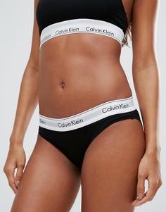 Хлопковые трусики Calvin Klein - Черный