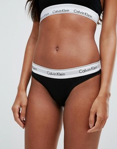 Стринги из хлопка Calvin Klein Modern - Черный