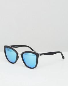 Зеркальные солнцезащитные очки кошачий глаз Quay Australia My Girl - Черный