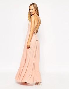 Платье макси с завязкой сзади ASOS - Розовый