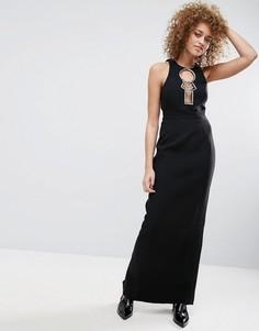 Платье макси с открытой спиной ASOS - Черный