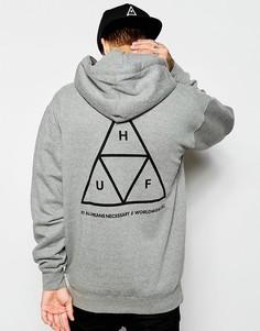 Худи с тремя треугольниками HUF - Серый