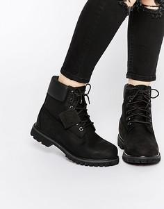 Черные ботинки со шнурками Timberland Premium 6 - Черный