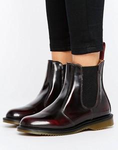 Бордовые ботинки челси Dr Martens Kensington Flora - Красный