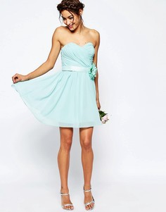 Шифоновое платье мини ASOS WEDDING - Розовый