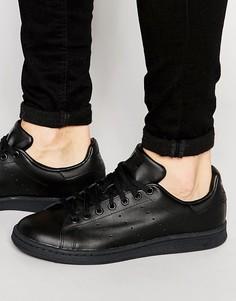 Черные кожаные кроссовки adidas Originals Stan Smith M20327 - Черный