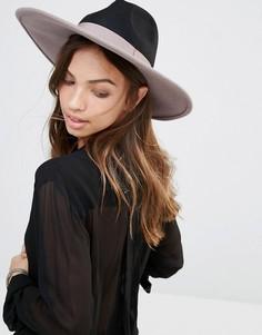 Фетровая шляпа с широкими полями Brixton - Черный