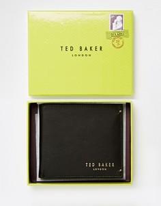 Кожаный складной бумажник с отделением для монет Ted Baker Antony - Черный