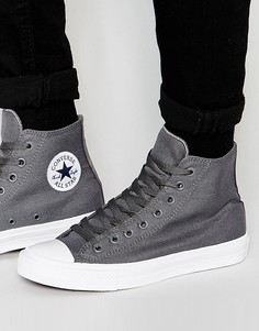 Серые высокие кеды Converse Chuck Taylor All Star II 150147C - Серый