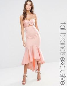 Платье миди бандо Jarlo Tall - Розовый