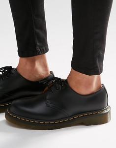 5e6c6c963be1 Туфли на плоской подошве с 3 парами люверсов Dr Martens 1461 Gibson - Черный