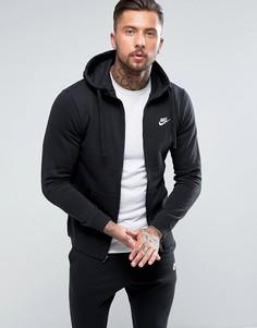 Худи черного цвета на молнии Nike Club 804389-010 - Черный