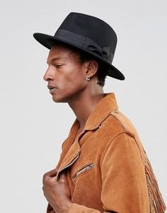 Черная фетровая шляпа ASOS - Черный