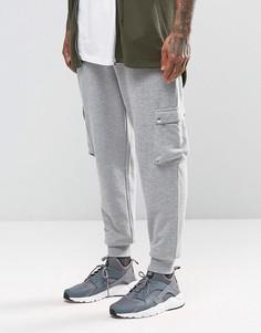 Серые джоггеры в рубчик с карманами-карго ASOS - Серый