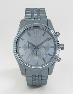 Синие часы с хронографом из нержавеющей стали Michael Kors Lexington MK8480 - Синий