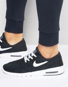 100% authentic 7e64c cef99 Мужские черные кроссовки Nike SB Stefan Janoski Max 631303-010 - Черный