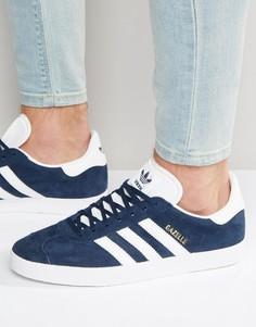 Темно-синие кроссовки adidas Originals Gazelle BB5478 - Темно-синий