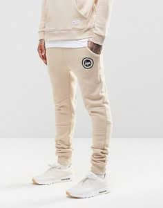 Зауженные спортивные брюки с логотипом Hype - Бежевый