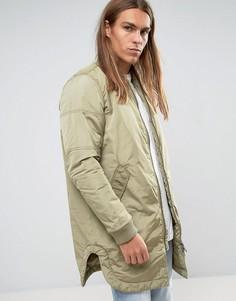 Легкая длинная куртка-пилот ADPT - Рыжий