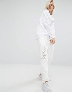 Спортивные штаны со ступенчатыми кромками KKXX - Кремовый