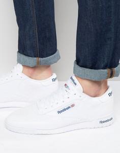 Белые кожаные кроссовки Reebok Ex-O-Fit AR3169 - Белый