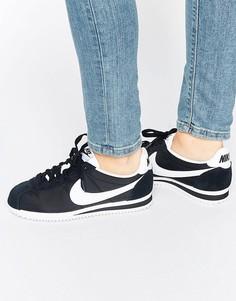 Женские черно-белые кроссовки Nike Classic Cortez - Черный