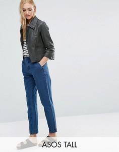 Синие джинсовые чиносы из стираного денима ASOS TALL - Синий