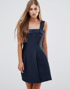 Платье для выпускного с бантиком See U Soon - Темно-синий