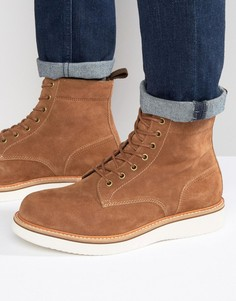 Нубуковые ботинки на шнуровке ALDO Waovia - Рыжий