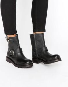 Черные байкерские ботинки Selected Femme Beth - Черный