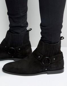 Замшевые байкерские ботинки KG Kurt Geiger Jackson - Черный