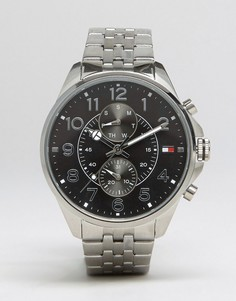 Часы с хронографом из нержавеющей стали Tommy Hilfiger Dean - Серебряный