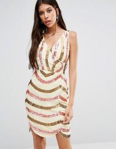 Платье с перекрестным передом Virgos Lounge Opal - Розовый