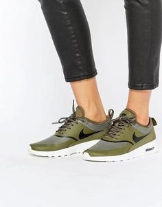 Кроссовки цвета хаки Nike Air Max Thea - Зеленый