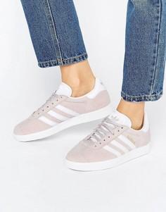 Женские бледно-фиолетовые замшевые кроссовки унисекс adidas Originals Gazelle - Фиолетовый