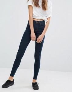 Супероблегающие джинсы с классической талией Dr Denim Lexy - Синий