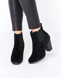 Замшевые ботинки челси New Look - Черный