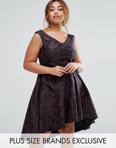 Фактурное платье асимметричной длины Coast Plus Monisha - Мульти