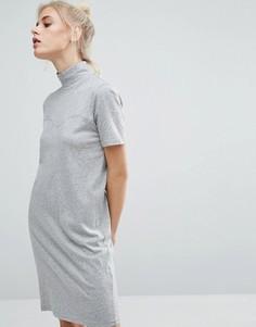 Платье-футболка с высокой горловиной Cheap Monday - Серый