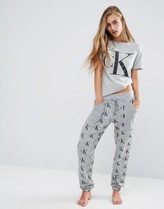 Пижамные брюки в стиле ретро Calvin Klein - Серый