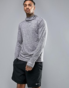 Серое худи из быстросохнущей ткани Dri-FIT Nike Running Element 803877-021 - Серый