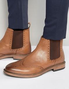Ботинки челси с отделкой под броги KG By Kurt Geiger - Рыжий