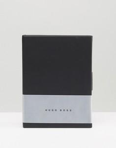 Серый блокнот формата A6 BOSS by Hugo Boss Loop - Серый