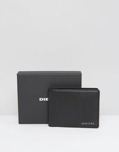 Черный кожаный бумажник Diesel Neela XS - Черный