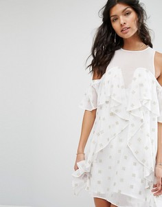 Платье мини Stevie May Currents Star - Белый