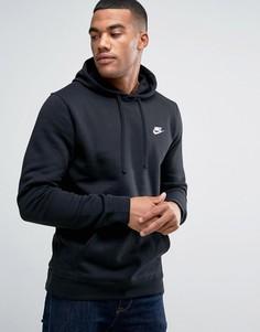Худи черного цвета с логотипом-галочкой Nike 804346-010 - Черный