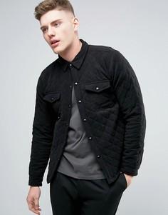 Стеганая куртка‑рубашка Another Influence - Черный