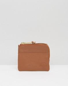 Кожаный бумажник на молнии Herschel Supply Co Johnny - Рыжий